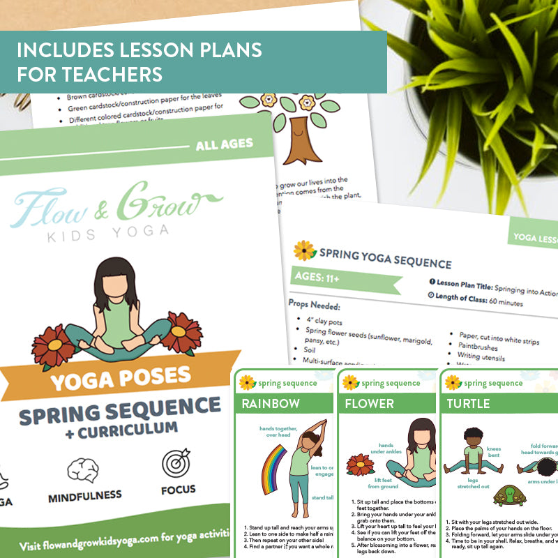 Spring Sequence Yoga Cards and Lesson Plans