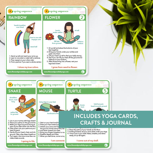 Spring Sequence Yoga Cards