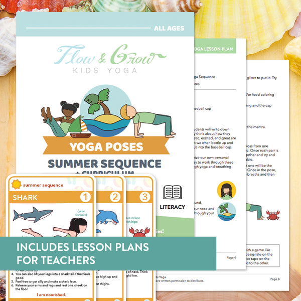 Summer Sequence Yoga Cards and Lesson Plans