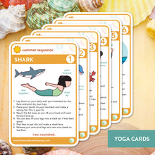 Load image into Gallery viewer, Summer Sequence Yoga Cards and Lesson Plans