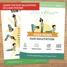 Load image into Gallery viewer, Sun Salutation Yoga Cards