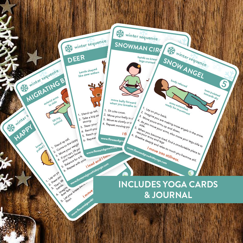 Winter Sequence Yoga Cards and Lesson Plans