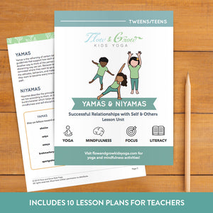 Yamas and Niyamas Yoga Lesson Plan for Teens
