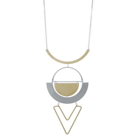 Two-tone Geo Necklace