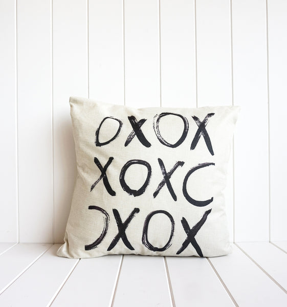 Kisses and Hugs please. This XOXO Cushion is in neutral beige / cream. Perfect for the sofa /bedroom