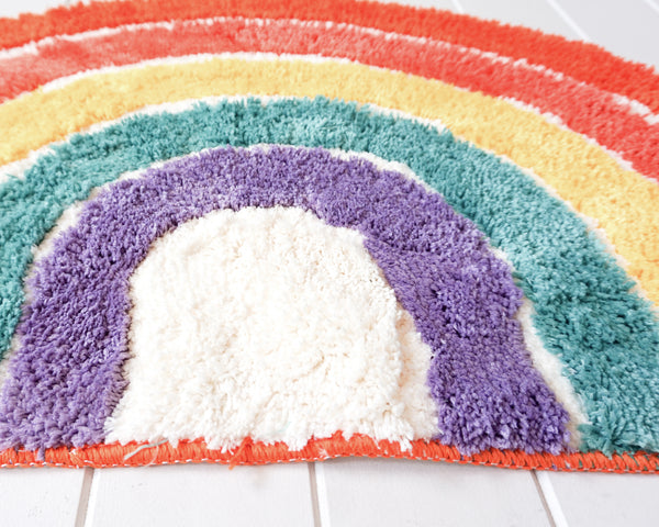 Rainbow Bath Mat. Non slip and super absorbent. Add some colour to your home or front door. Fun