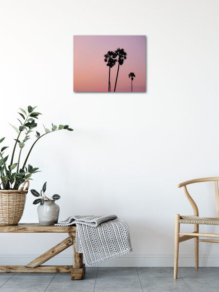 Beautiful Wall Decor, this Dusty Palm Sunset Canvas Print is affordable luxury. Beautiful palm trees