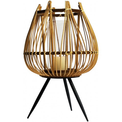 This Cane Candle Holder is homewares' hottest interior trends in 2020. Rattan, Bamboo, Natural