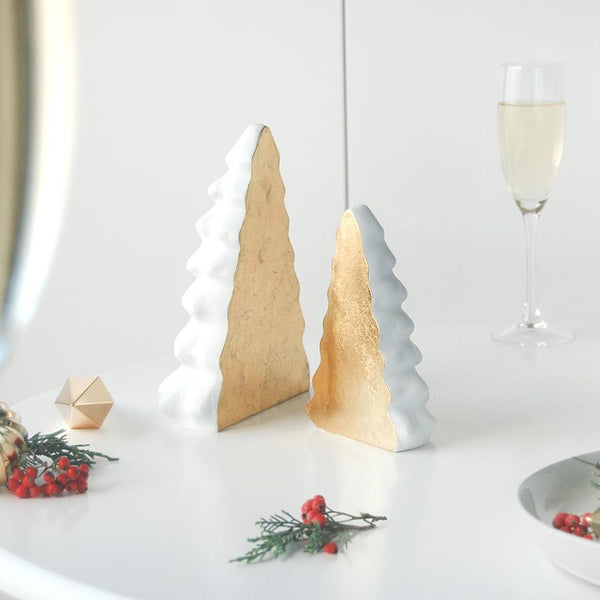White and Gold Christmas Tree homewares from White Moose. Hello Bella Lifestyle Online Australia.