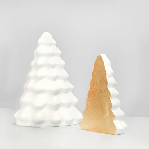 Gold and White Christmas Tree Ornaments and home decor. Perfect Xmas decoration for the interior.