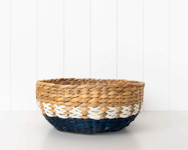 The pretty medium basket is part of the wisteria basket set. Affordable luxury at Hello Bella Online