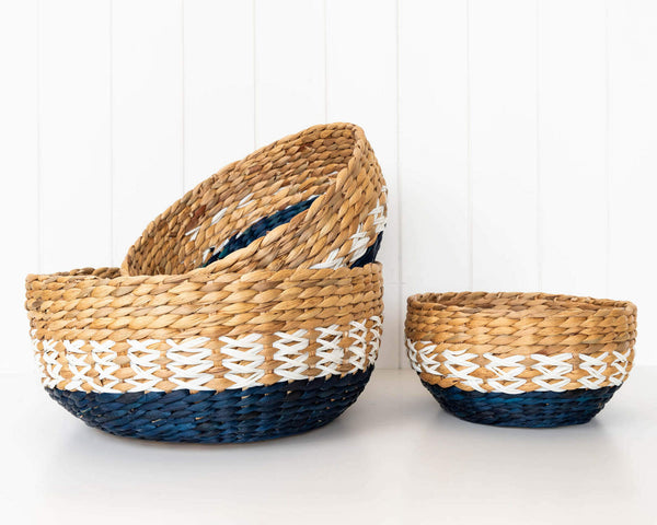 Beautiful basket set for interior home styling and storage or a perfect gift idea. Neutral colours.