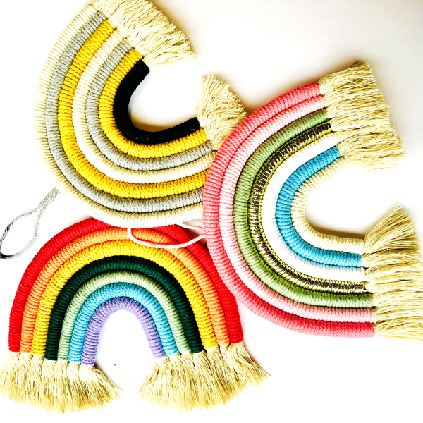 Hanging Rainbow Wall decorations available at Hello Bella Lifestyle online Australia. Gift ideas