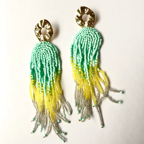 Beaded Tassel Earrings available at Hello Bella Lifestyle online. Chic affordable jewellery.