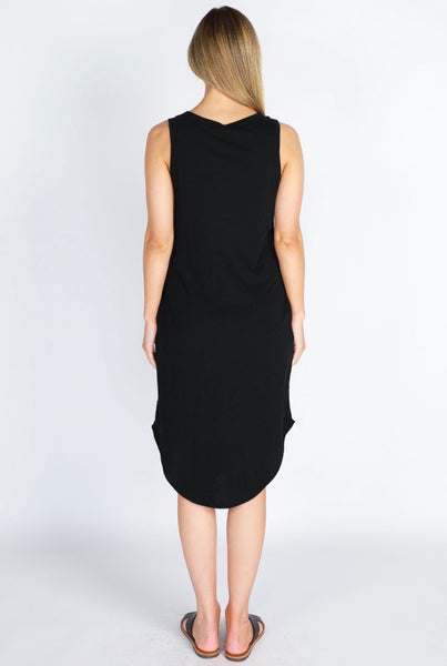 Black Midi Bailey Dress. Womens Fashion Clothing and basics available at Hello Bella Lifestyle store