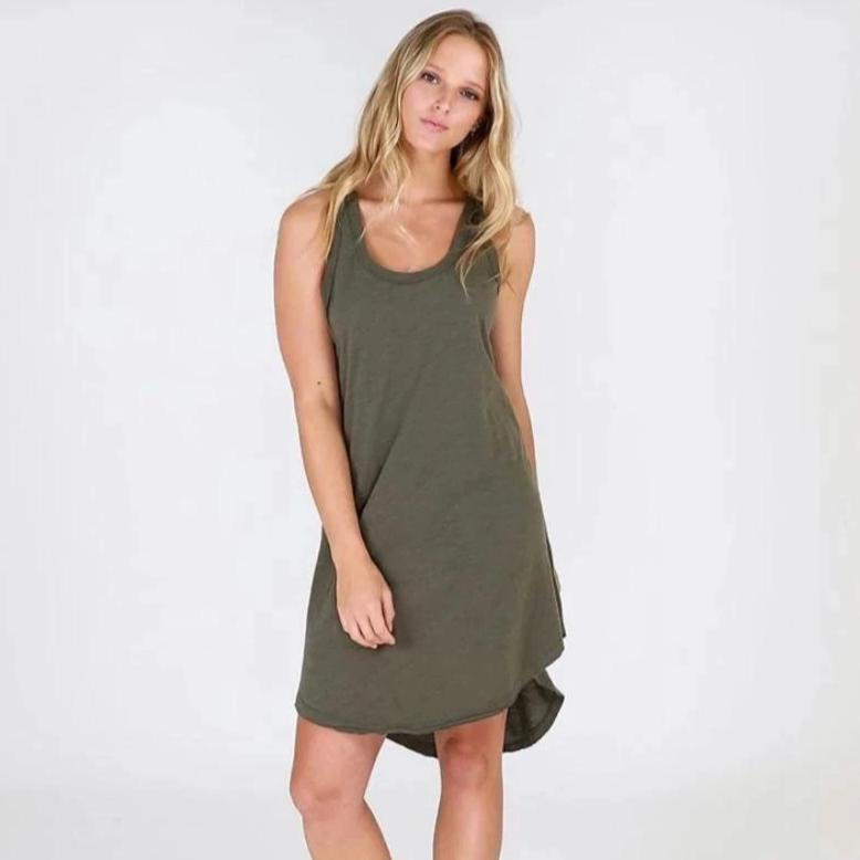 Abercrombie Tunic Dress in Khaki Green by 3rd Story the Label - Australian fashion for women. Chic.