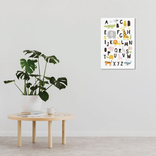 Promote learning and add some colour to your walls with this Animal Alphabet Wall Artwork