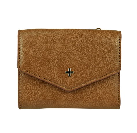 PETA AND JAIN Maddox Trifold Purse - Tan