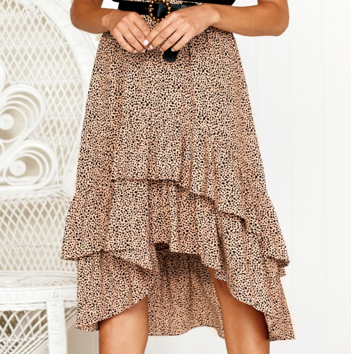 Spotted Ruffle Skirt - Beautiful polkadots and ruffles is perfect in womanswear. Affordable luxury.