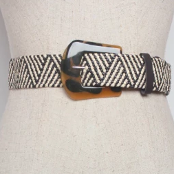 Black & White Geo pattern belt