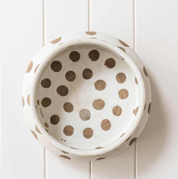 Kusama Handmade White Bowl is a perfect piece for interior designers and styling. Hand-crafted bowl
