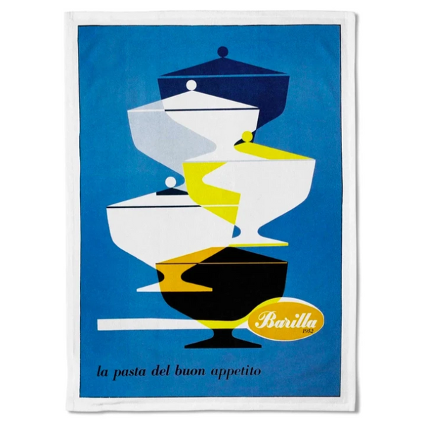 Look cooking? Need a gift idea? This Vintage retro barilla pasta branded tea towel is what you need