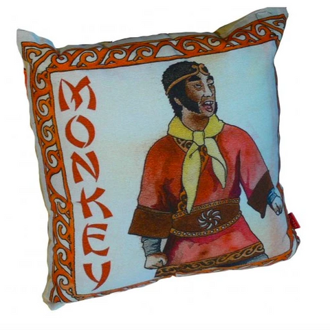 Classic Vintage Monkey Magic Retro Cushion. Original Japanese TV Series. Sofa, office, Bedroom, Gift