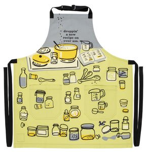Dropping a new recipe on your ass Apron. For lovers of cooking and the kitchen. Unique, funny,