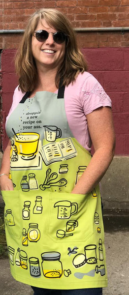 Fun, unique gift idea for mum. Sturdy cotton apron. Great quality. Ideal present. Stylish and funny