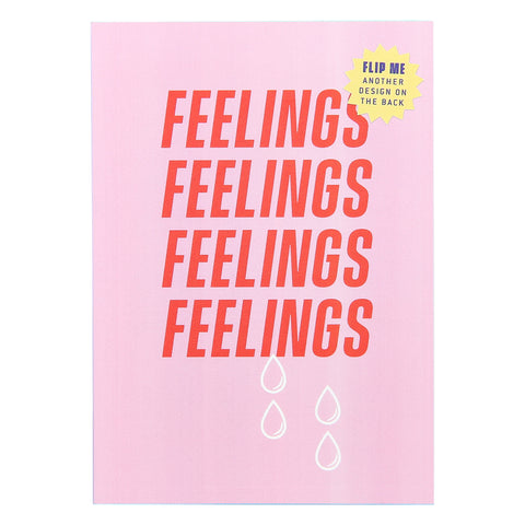 Feelings mini note book. Perfect low price gift idea. Pink cover with red writing. Affordable & fun