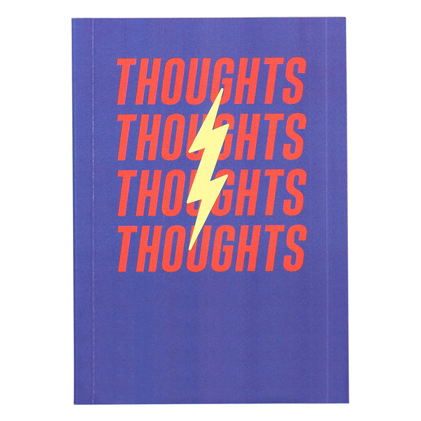 Thoughts and feelings mini note book with black pages. Colourful and fun novelty product. Bargain