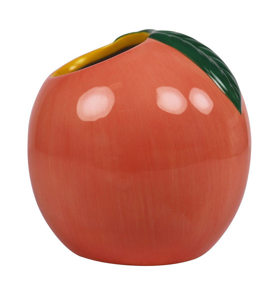 Peach Planter. Ceramic pot planter for interior styling in your indoor garden. Fun, Fruity, unique