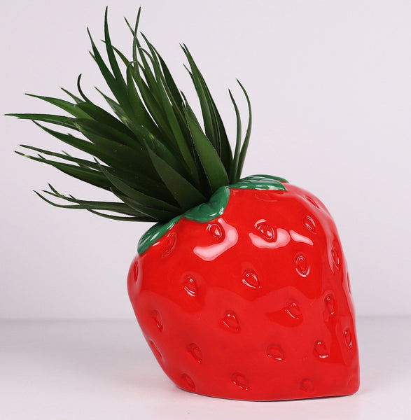 Strawberry planter - idea garden styling for indoor or outdoor decor. Perfect Gift. Homewares. Pot.