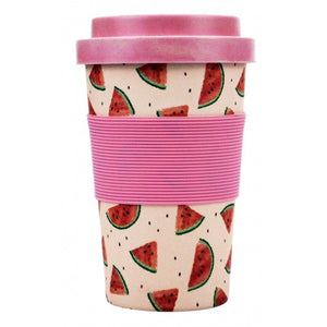 Watermelon design Eco Friendly Travel Mug. Coffee on the go. Great gift idea. Hello Bella Lifestyle