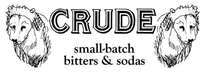 Crude small batch bitter & soda