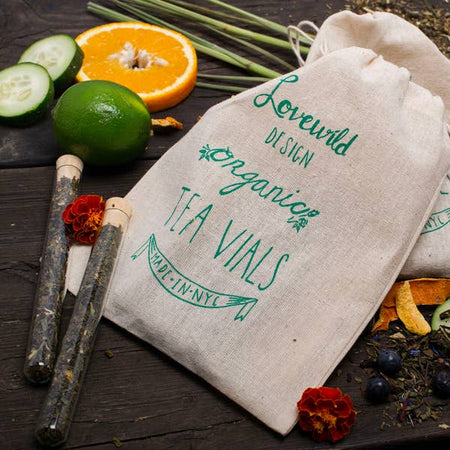 Lovewild Design Organic Green Tea Vials - Small Batch Foody