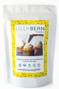 Pastrybase Lilly Bean Gluten Free Vegan Vailla Bean Buttercream Frosting Mix - Small Batch Foody