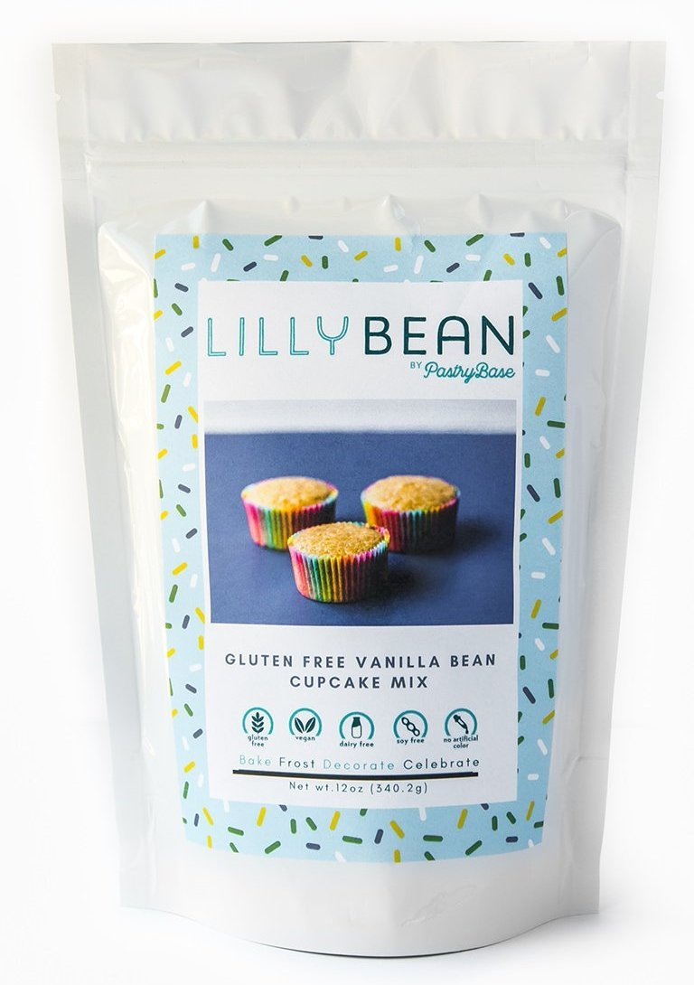 Pastrybase Lilly Bean Gluten Free Vegan Vanilla Bean Cupcake Mix - Small Batch Foody