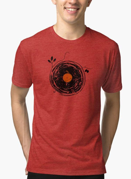 Enchanting Vinyl Records Vintage LG Red Malange T-shirt