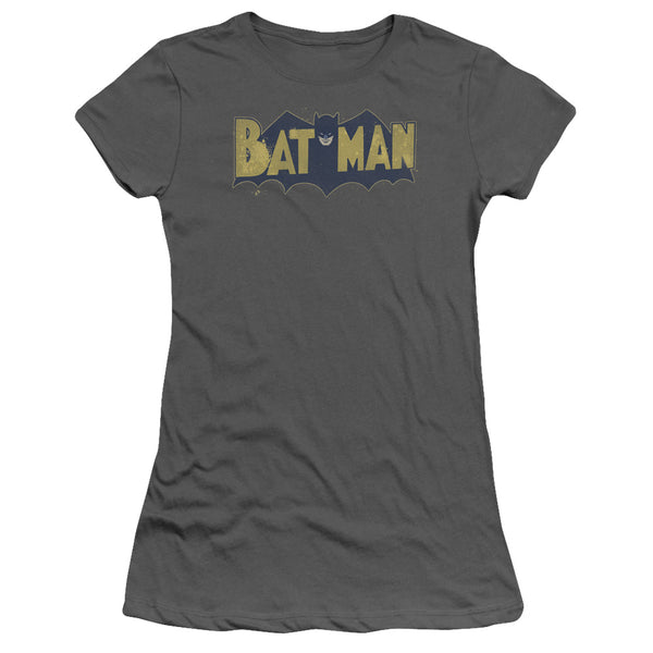 Batman - Vintage Logo Splatter Short Sleeve Junior Sheer