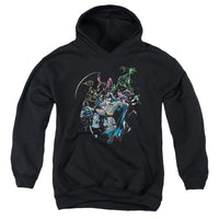 Batman - Surrounded Youth Pull Over Hoodie