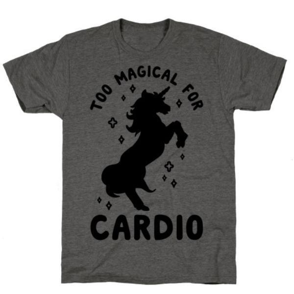 TOO MAGICAL FOR CARDIO CHARCOAL T-SHIRT