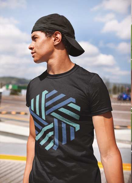 Geometric Shape Blue T-shirt