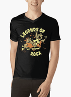 LEGENDS OF ROCK V-Neck T-shirt