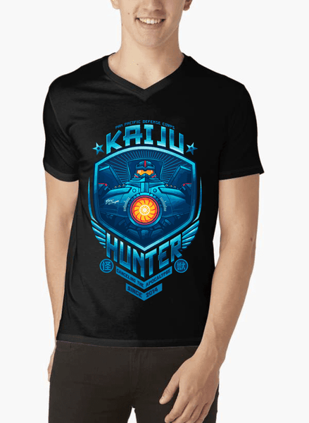 Kaiju Hunter Half Sleeves V-Neck T-shirt