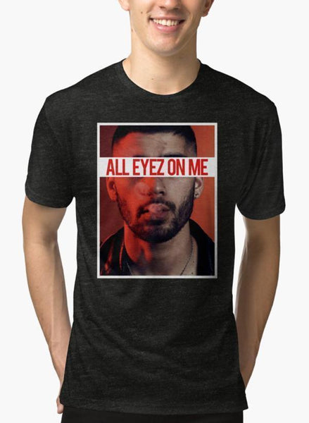 All Eyes On Me Black Malange T-shirt