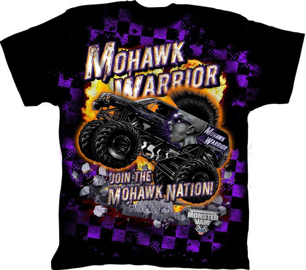 Boys Mohawk Warrior Shirt Monster Jam Apparel