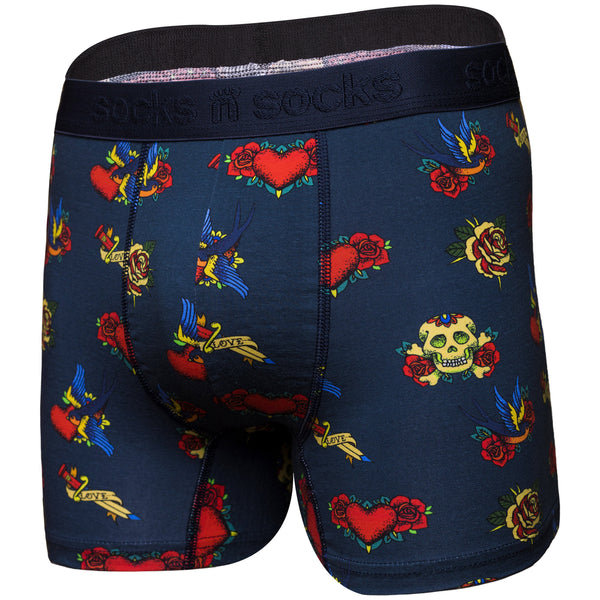 Men's Tattoo Boxer Brief