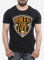 Biker For Life Half Sleeves T-shirt