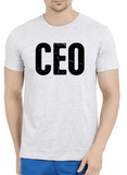 CEO Half Sleeves Melange T-shirt